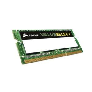 Corsair CMSO8GX3M1C1600C11 Value Select 8GB Kit (1 x 8GB) 1600MHz DDR3L 11-11-11-28 204pin 1.35 Notebook Memory