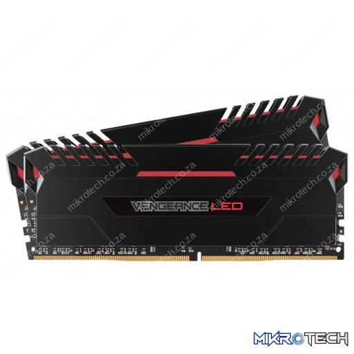 Corsair CMU16GX4M2C3000C15R Vengeance LED 16GB (2x8GB) DDR4 3000MHz CL15 1.35V Red LED Desktop Memory