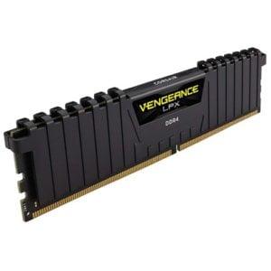 Corsair CMK16GX4M1A2400C16 Vengeance LPX 16GB (1x16GB) DDR4-2400HMz CL16 1.2V Black Desktop Memory