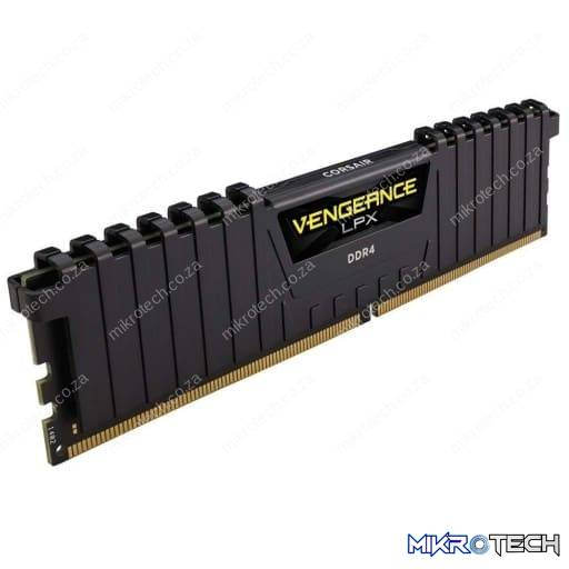 Corsair CMK16GX4M1D3000C16 Vengeance LPX 16GB (1x16GB) DDR4-3000MHz CL16 Black Desktop Memory