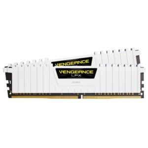 Corsair CMK16GX4M2B3200C16W Vengeance LPX 16GB (2x 8GB) DDR4-3200MHz CL16 288-Pin 1.35V White Low-Profile Desktop Memory