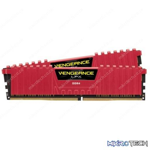 Corsair CMK16GX4M2A2666C16R Vengeance LPX 16GB (2x8GB) DDR4-2666MHz CL16 1.2V 288-pin Red Desktop Memory
