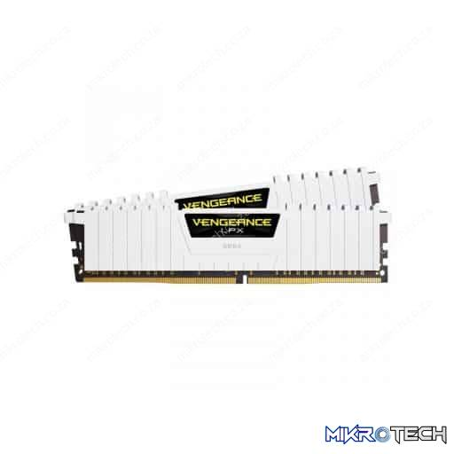 Corsair CMK32GX4M2A2666C16W Vengeance LPX 32GB (2x16GB) DDR4-2666MHz CL16 1.2V 288-Pin White Desktop Memory