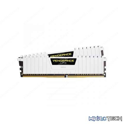Corsair CMK32GX4M2B3000C15W Vengeance LPX 32GB (2x16GB) DDR4-3000MHz CL15 1.35V 288-Pin White Desktop Memory