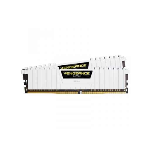 Corsair CMK32GX4M2B3200C16W Vengeance LPX 32GB (2x16GB) DDR4-3200MHz CL16 1.35V 288-Pin White Desktop Memory