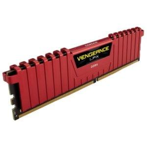 Corsair CMK8GX4M1A2666C16R Vengeance LPX 8GB (1x8GB) DDR4-2666MHz CL16 1.2V 288-pin Red Desktop Memory