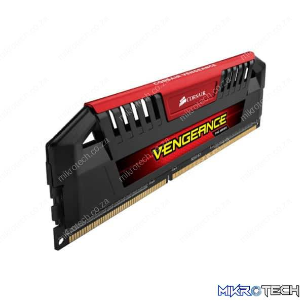 Corsair CMY16GX3M4B2800C12R / CMY16GX3M4A2800C12R Vengeance Pro 16GB (4GBx4) DDR3-2800MHz CL12 Black PCB + Heatsink With Red Accent Kit - Desktop Memory