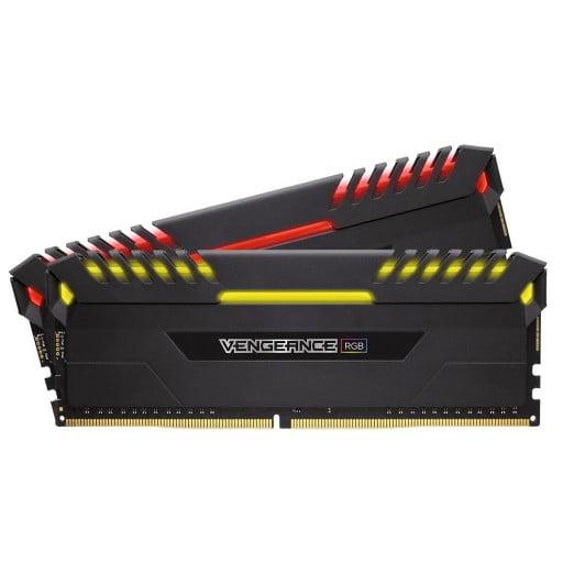Corsair Vengeance RGB 16GB (2x 8GB) DDR4-3000MHz CL15 288-Pin 1.35V RGB Desktop Memory