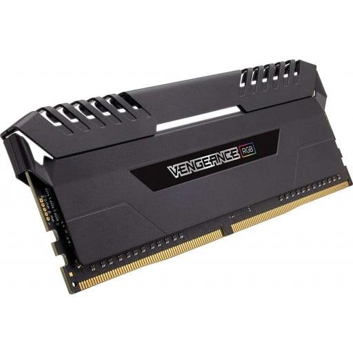 Corsair Vengeance RGB 16GB (2x8GB) DDR4-2666MHz CL16 1.2V 288-Pin Black Desktop Memory