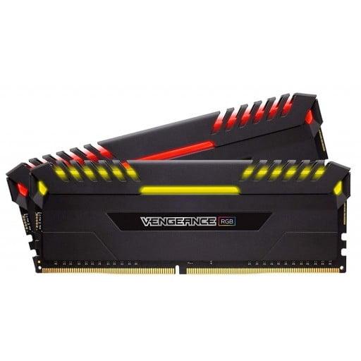 Corsair CMR32GX4M2C3000C15 Vengeance RGB 32GB (2x16GB) DDR4-3000MHz CL15 1.35V 288-Pin Black Desktop Memory