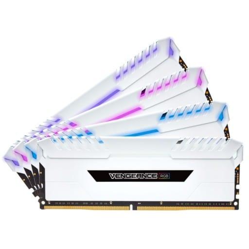 Corsair Vengeance RGB 32GB (4x8GB) DDR4-3000MHz CL15 1.35V 288-Pin White Desktop Memory