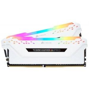 Corsair CMW16GX4M2C3000C15W Vengeance RGB PRO 16GB (2x8GB) DDR4-3000MHz CL15 1.35V 288-Pin White Desktop Memory