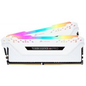 Corsair Vengeance RGB PRO 16GB (2x8GB) DDR4-3200MHz CL16 1.35V 288-Pin White Desktop Memory