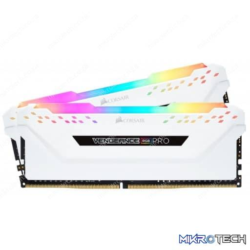 Corsair Vengeance RGB PRO 16GB (2x8GB) DDR4-3600MHz CL18 1.35V 288-Pin White Desktop Memory