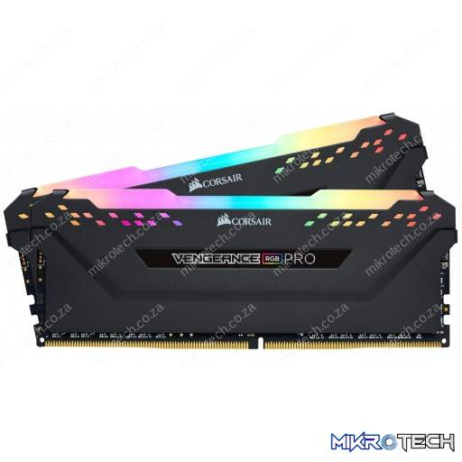 Corsair Vengeance RGB Pro 16GB (2x8GB) DDR4-2666MHz CL16 1.2V 288-Pin Black Desktop Memory