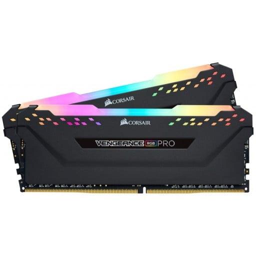Corsair Vengeance RGB Pro 16GB (2x8GB) DDR4-3200MHz CL16 1.35V 288-Pin Black Desktop Memory
