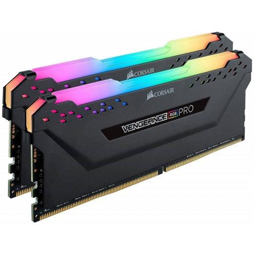 Corsair CMW32GX4M2C3200C16 Vengeance RGB Pro 32GB (2x16GB) DDR4-3200MHz CL16 1.35V Black Desktop Memory