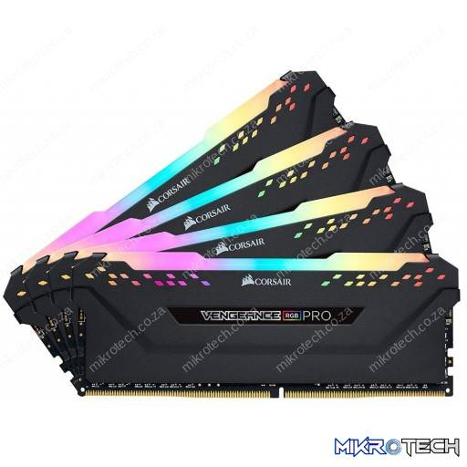 Corsair CMW32GX4M4A2666C16 Vengeance RGB Pro 32GB (4x8GB) DDR4-2666MHz CL16 1.2V 288-Pin Black Desktop Memory