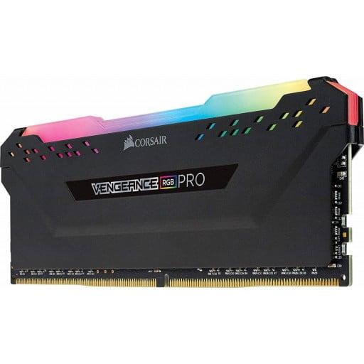 Corsair Vengeance RGB Pro 32GB (4x8GB) DDR4-3000MHz CL15 1.35V Black Desktop Memory