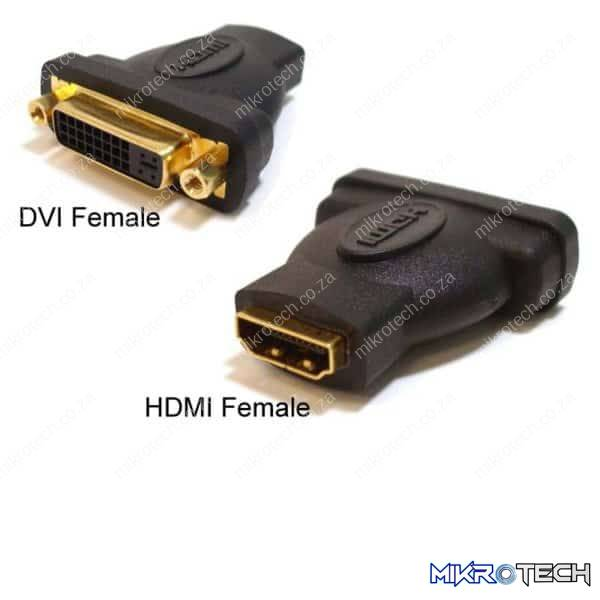 DVI-I FEMALE TO HDMI FEMALE CONNECTOR