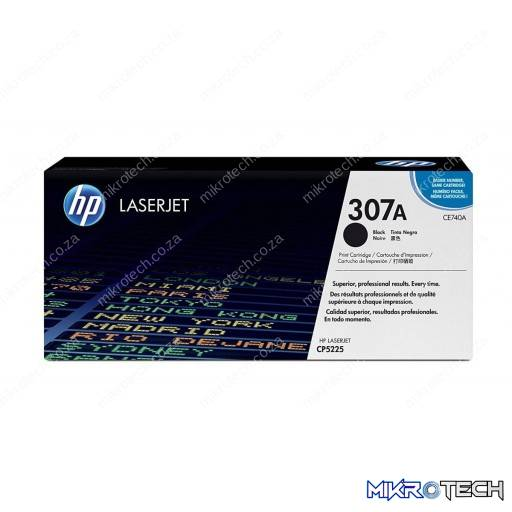 HP CE740A 307A Black Original LaserJet Toner Cartridge