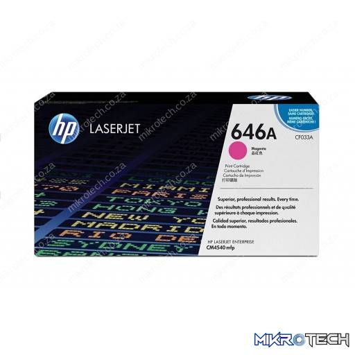 HP CF033A 646A Magenta Original LaserJet Toner Cartridge