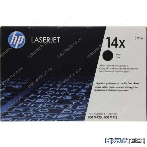 HP CF214X 14X High Yield Black Original LaserJet Toner Cartridge