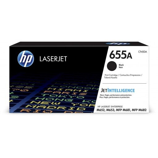 HP CF450A 655A Black Original LaserJet Toner Cartridge