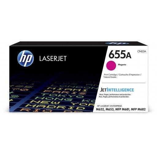 HP CF453A 655A Magenta Original LaserJet Toner Cartridge