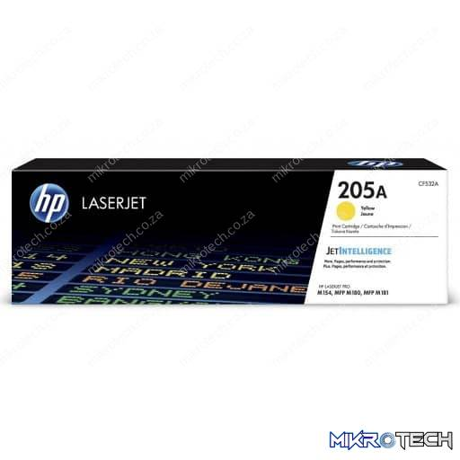 HP CF532A 205A Yellow Original LaserJet Toner Cartridge