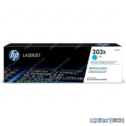 HP CF541X 203X High Yield Cyan Original LaserJet Toner Cartridge