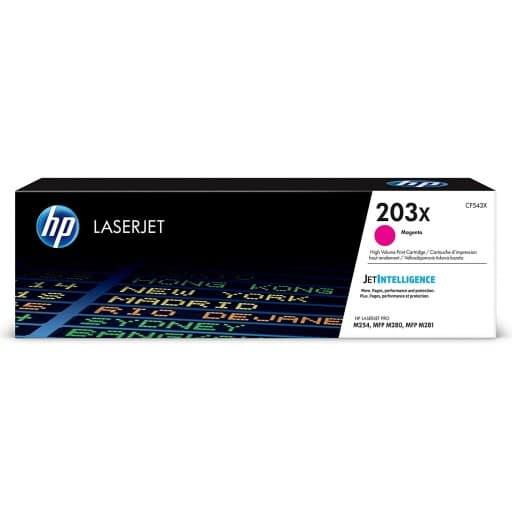HP CF543X 203X High Yield Magenta Original LaserJet Toner Cartridge