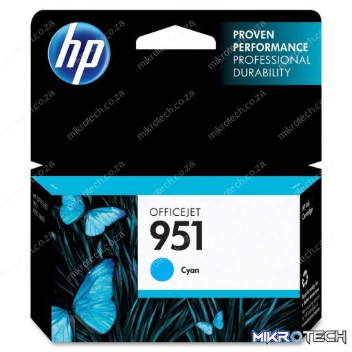 HP CN050AE No.951 Cyan Ink, 700pages For HP Business Officejet Pro 8610, 8620