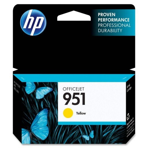 HP CN052AE No.951 Yellow Ink, 700 Pages for HP Business Officejet Pro 8610, 8620