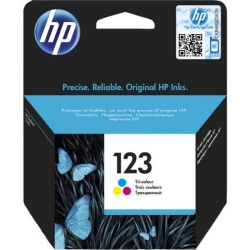 HP F6V16AE 123 Tri-Color Original Inkjet Cartridge