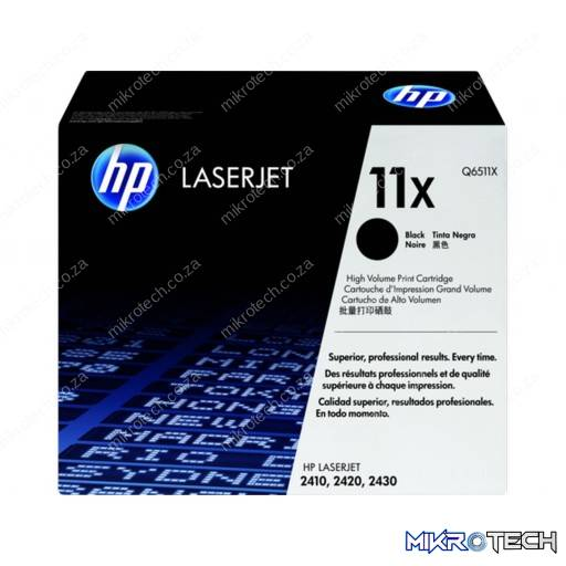 HP Q6511X 11X High Yield Black Original LaserJet Toner Cartridges