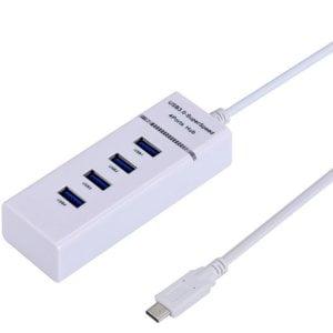 HUB USB3.1 4P WHITE