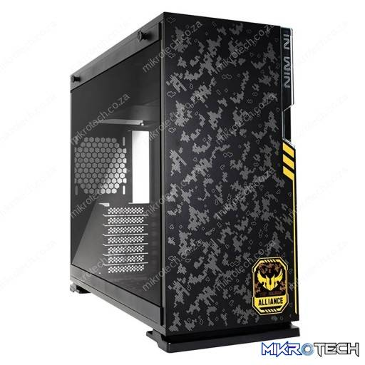 In-Win 101 TUF GAMING Black Tempered Glass ATX Mid-Tower Desktop Chassis