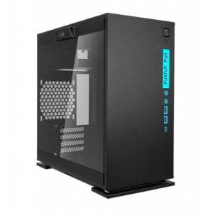 In-Win 301C Black RGB Tempered Glass m-ATX Mini-Tower Desktop Chassis