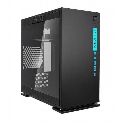 In-Win 301C Black RGB Tempered Glass m-ATX Mini-Tower Desktop Chassis