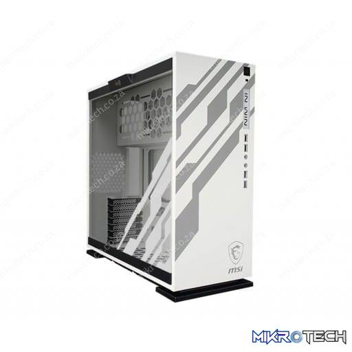 In-Win 303-MSI Dragon Edition White RGB Tempered Glass ATX Mid-Tower Desktop Chassis
