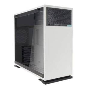 In-Win IW-102-White 102 Tempered Glass White Steel ATX Mid Tower Desktop Chassis