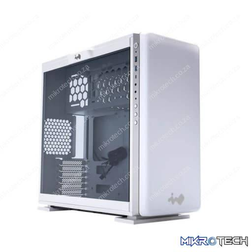 In-Win IW-307-WHITE 307 Tempered Glass White Steel ATX Mid Tower Desktop Chassis