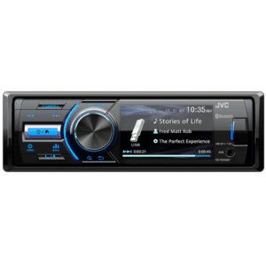 JVC Digital Media Receiver with 3-inch Monitor and Built-in Bluetooth® Wireless Technology