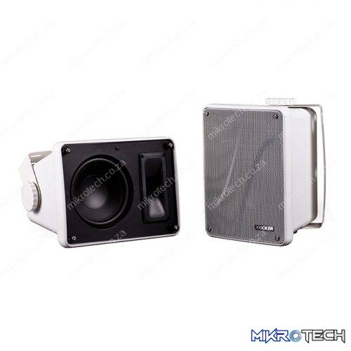 KB6000 Full-Range Weather-Resistant Full-Range Speakers Enclosure (White)