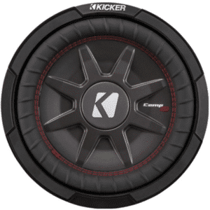 """Kicker 43CWRT102 CompRT shallow-mount 10""""subwoofer with dual 2-ohm voice coils"""