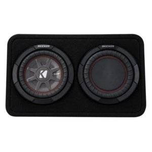 """Kicker 43TCWRT674 Sealed truck enclosure with one CompRT 6-3/4""""4-ohm subwoofer"""