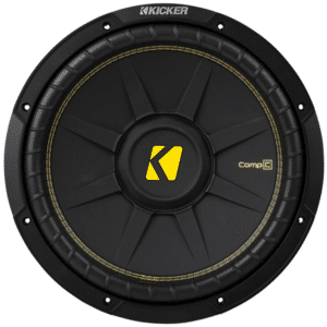 "Kicker 44CWCD124 CompC Series 12""subwoofer with dual 4-ohm voice coils"