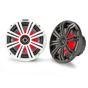 """Kicker 45KM654 6-1/2""""marine speakers with charcoal and white grilles"""