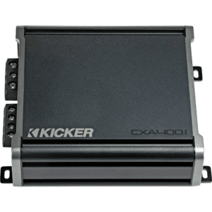Kicker 46CXA4001 CX Series mono subwoofer amplifier — 400 watts RMS x 1 at 1 ohm